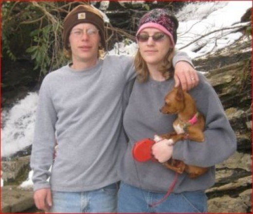 John, me and Lexie hiking at Cascade Falls