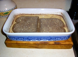 soaking whole wheat bread in eggnog batter