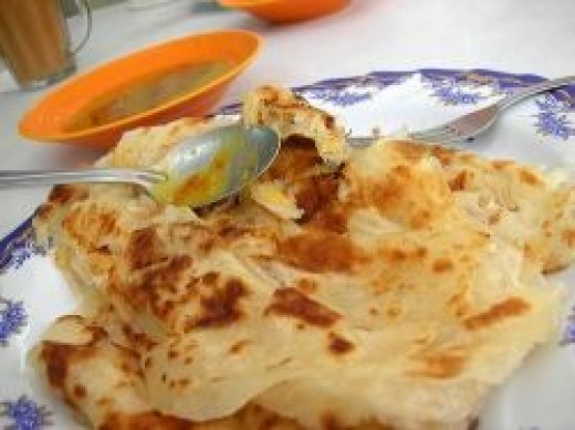 Roti Prata - Indian Pancake (normally eaten with fish or chicken curry gravy)