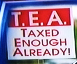 "Tea Party stands for ""Taxed Enough Already!"""