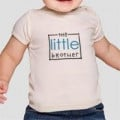 Organic Baby T-Shirt. Easy put-on/take-off unisex design .Sizes: 0-3m, 3-6m, 6-12m, 12-18m, 18-24m size Color: Natural