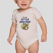 Organic Baby Bodysuit. Easy put-on/take-off unisex design. Sizes: 3-6M, 6-12M, 12-18M, 18-24M. Color: Natural
