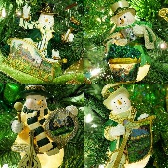 Decorate your tree with Irish themed ornaments!