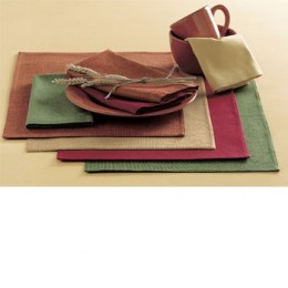 Chambray weave is known as a type of technique that gives the fabric a dirty, rough look, just like these Chambray Stripe Placemats. These placemats come in colors that are perfect for Fall. Reverses to solid chambray backing. Sold individually. Mach