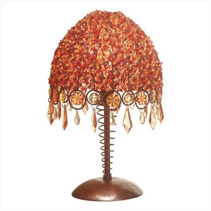 Beaded Autumn Inspired Lamp