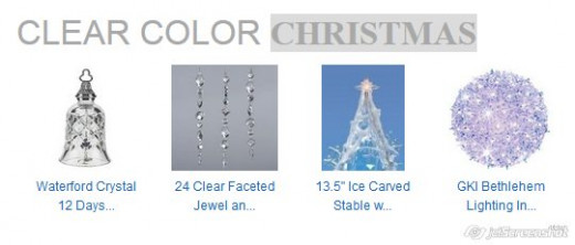 Clear and Transparent Christmas Color Scheme. Clear color - simplicity.