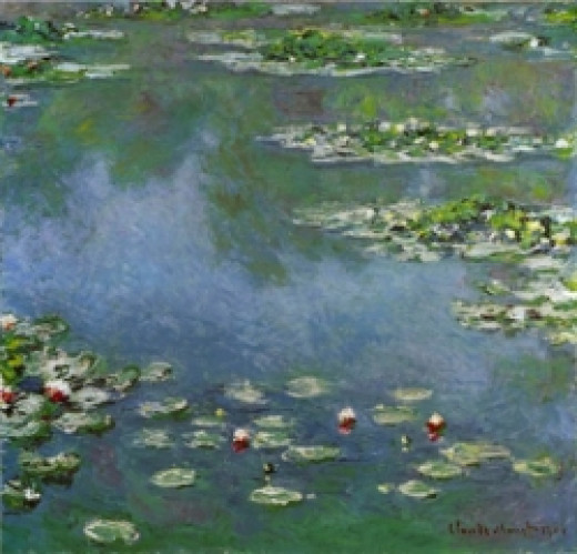 A detail from one of Claude Monet's Waterlilies series of paintings.