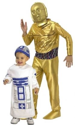 Rubie's Costume Star Wars Baby Bunting R2D2 Costume and Star Wars C3PO Child's Costume.