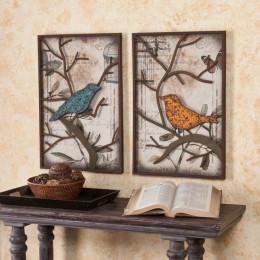 Bird 2-Piece Set panel de pared