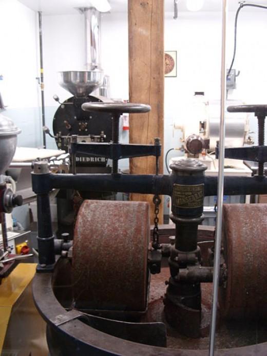 Chocolate making machinery. Image from Wikipedia.