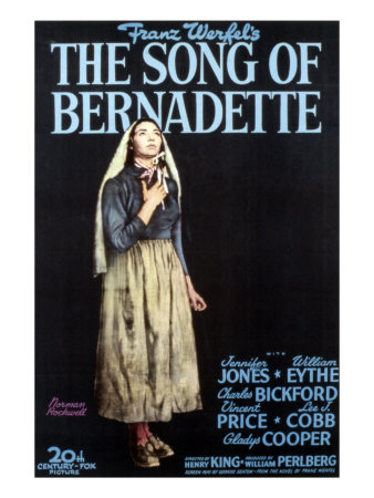"""The Song of Bernadette"" movie poster--photo credit: Art.com"