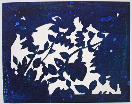 Tree Canopy Silhouette--Original Framed Papercut from edamamepress by Amanda Gordon Miller.  See related link to Etsy below.