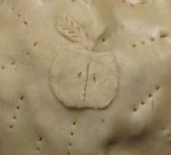 Decorative Garnish on Apple Pie Crust