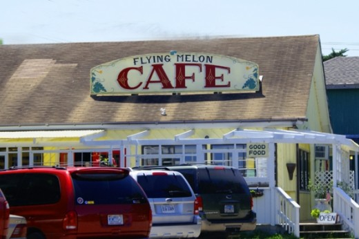 There are plenty of good places to eat. This is the cafe that where we ate lunch. They had a great crab cake sandwich!