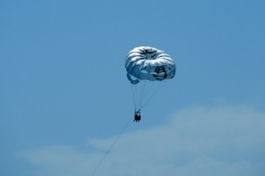 Parasailing is another activity on the island.