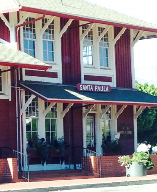 Santa Paula's train station.