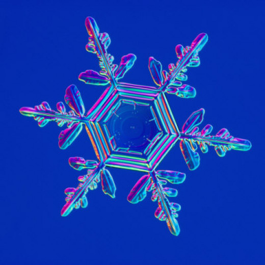 Snowflake print by Kenneth Libbrecht