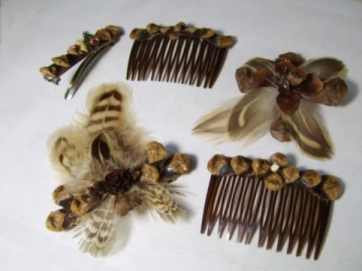 pine-cone-barrettes