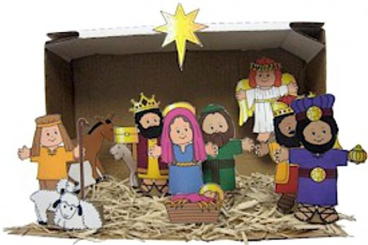 40 beautiful nativity craft ideas feltmagnet nativity scene download solutioingenieria Image collections