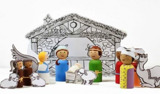 40 beautiful nativity craft ideas feltmagnet this set would be a perfect gift for someone in the nursing home or for children because it would be easy to store and unbreakable you can get the solutioingenieria Image collections