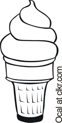 A vanilla ice cream cone.