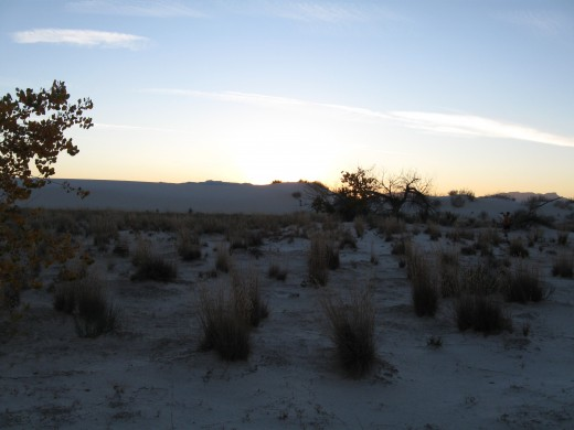 Day ends at White Sands National Monument, NM
