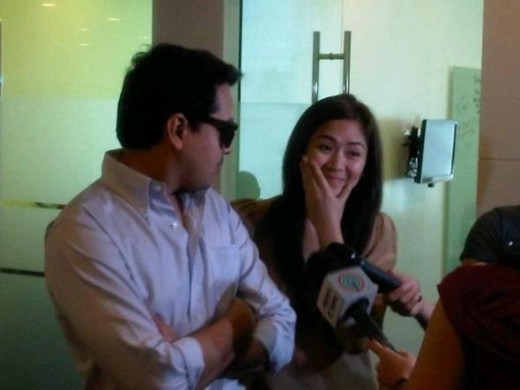 Story Conference for their next movie. Miggy, don't stare at Laida too long. She can't speak well.