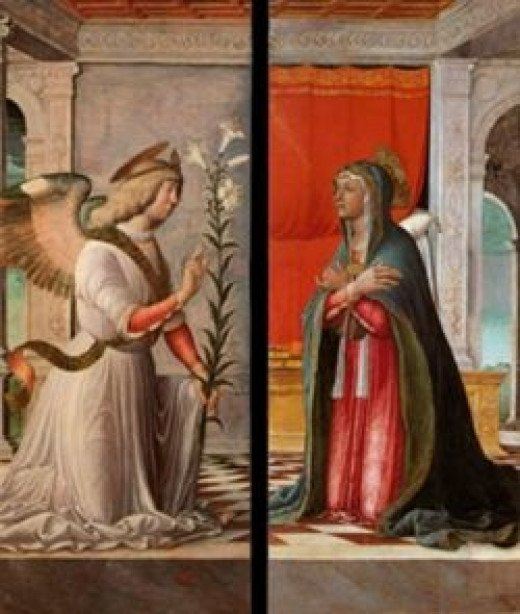The Archangel Gabriel and the Virgin Annunciate, 1494-97, Gallerie dell'Accademia, Venice