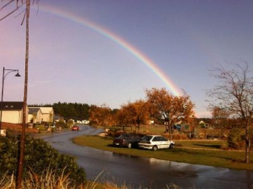 Rainbow Viewed from the Front Garden