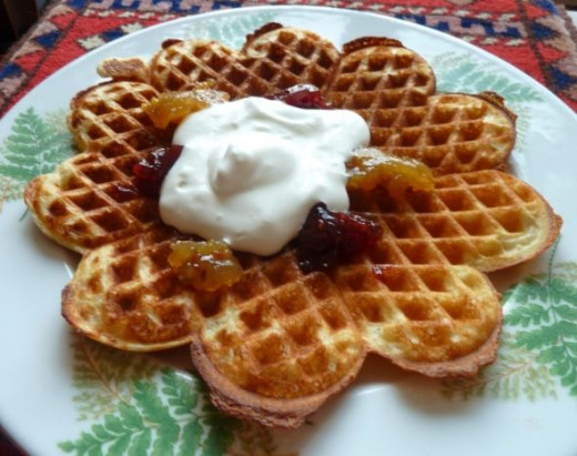 Healthy and Light Oatmeal Waffle
