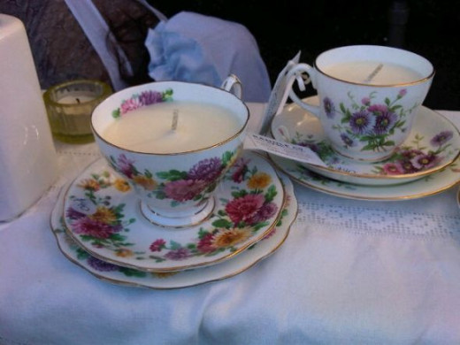 candle cup and saucer