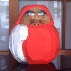 A hand carved daruma from Japan.