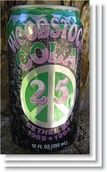Woodstock 25th anniversary cola,Woodstock anniversary,Woodstock 25th anniversary