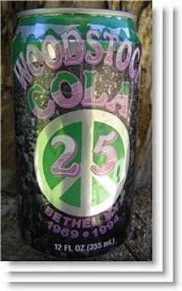 Woodstock 25th anniversary cola,Woodstock anniversary,Woodstock 25th anniversary