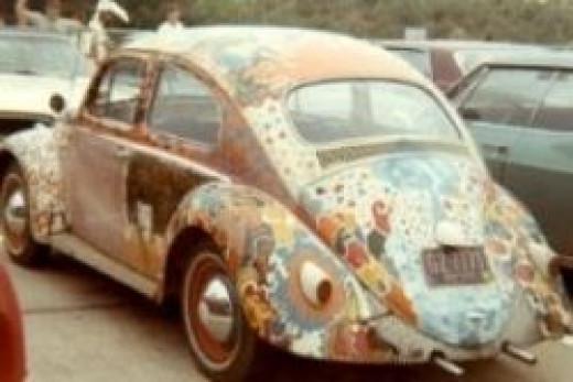 Psychedelic painted vw, Psychedelic,Psychedelic Woodstock