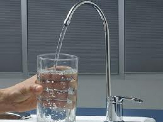 Clean refreshing water from filter