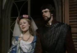 Richard Morant as Phoebus with Hetty Baynes as Fleur de Lys