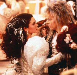 Jennifer Connelly and David Bowie in The Labyrinth