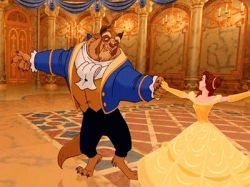 Belle and the Beast from Disney's Beauty and the Beast