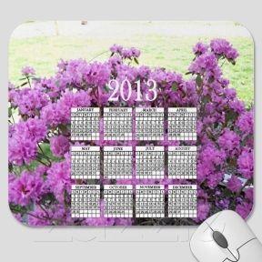 Beautiful Peonies 20123Calendar Mousepad