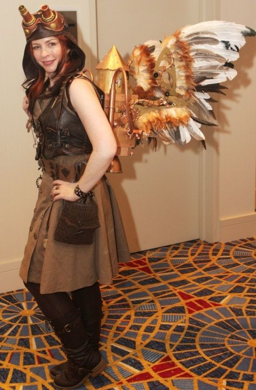 Steampunk Angel Costume and Boots