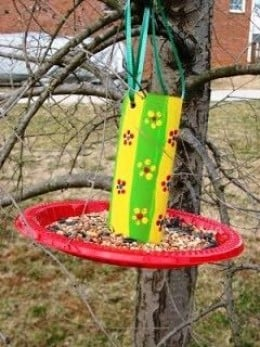 Do you know how to make a bird feeder hubpages for Making a bird feeder out of recycled materials