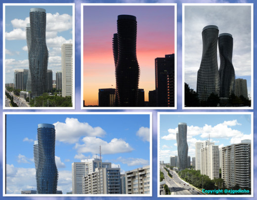Collage of the Absolute Towers in Mississauga, Ontario