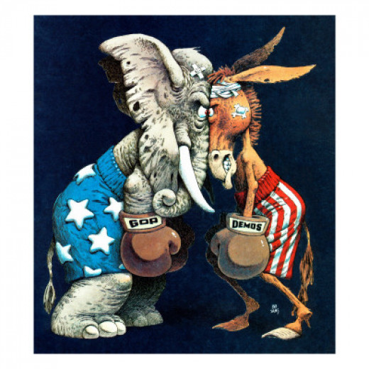 """Democrats vs. Republicans,"" July/Aug 1980"