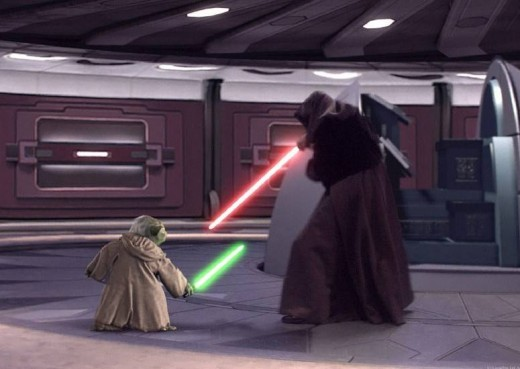 Yoda v The Emperor (Darth Sidious)