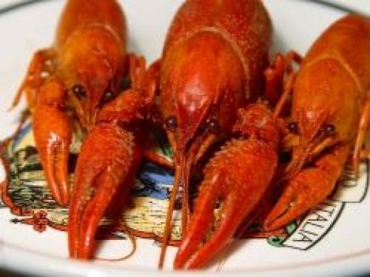 cooked crawfish