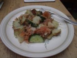 Grandma's Easy Potato And Salmon Salad