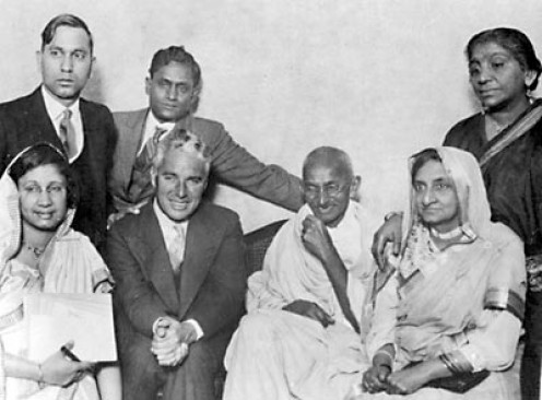 Chaplin and Gandhi
