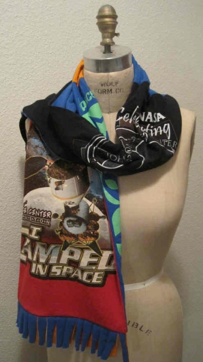 Recycled NASA T-shirt Scarf  On Etsy