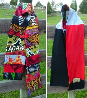 Patchwork-T-shirt-Scarf